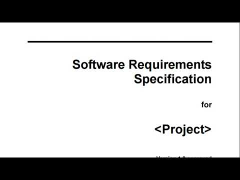 How to develop SRS Part 1