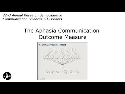 The Aphasia Communication Outcome Measure