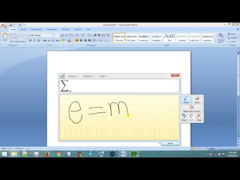 Writing Scientific equation on wordpad