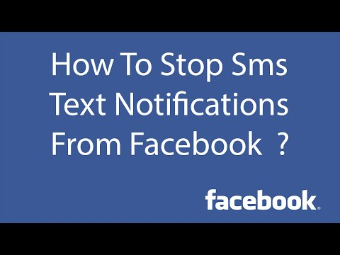 How To Stop SMS Text Notifications from Facebook ?