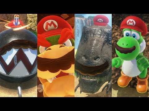 Super Mario Odyssey - All Capture Transformations