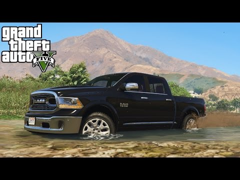 2016 DODGE RAM LIMITED! 4x4 Mudding, Hill Climbing, & Off-Roading! (GTA 5 PC Mods)
