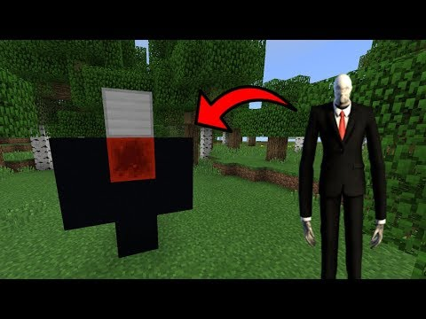 How To Spawn SLENDERMAN in MCPE | Minecraft PE 1.2