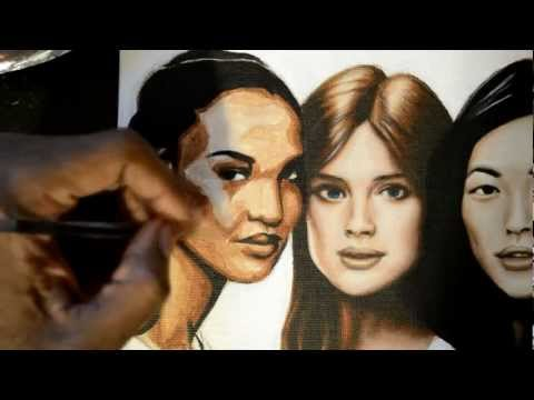 how to paint skin tones in acrylic portraits part 3
