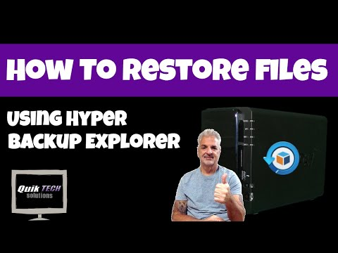 How To Restore Files Using Hyper Backup Explorer
