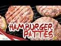 Patties Rezept - saftige Homemade Burger Patty's selber machen