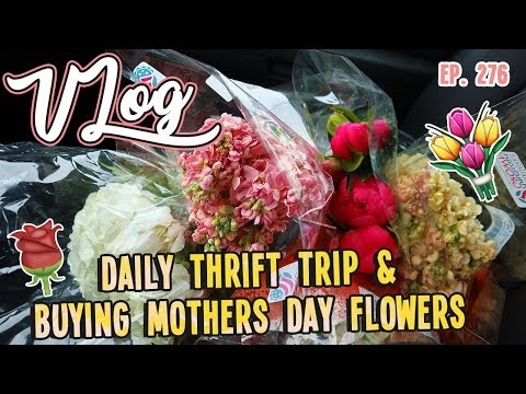 DAILY THRIFT TRIP & BUYING MOTHERS DAY FLOWERS   VLOG EP. 276