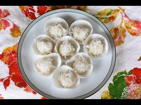 Plai Ai (glutinous rice balls filled w/ palm sugar) Recipe