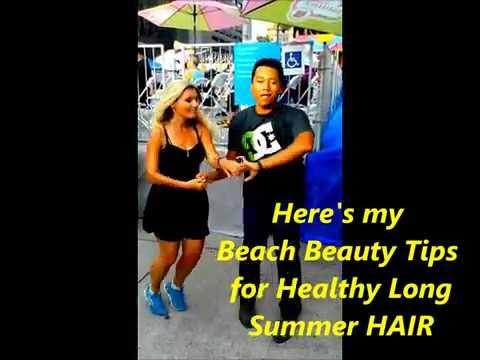 How to keep your Beach Hippy HAIR long & healthy all summer :)
