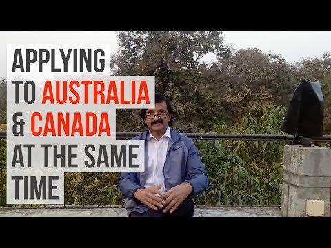 Applying simultaneously to Canada and Australia - Manoj Palwe explains