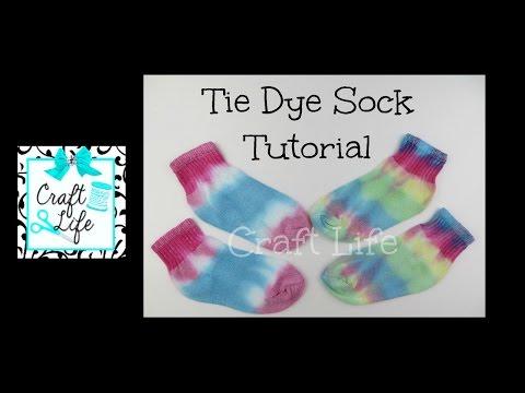 Craft Life ~ Jacy and Kacy DIY ~ Tie Dye Sock Tutorial