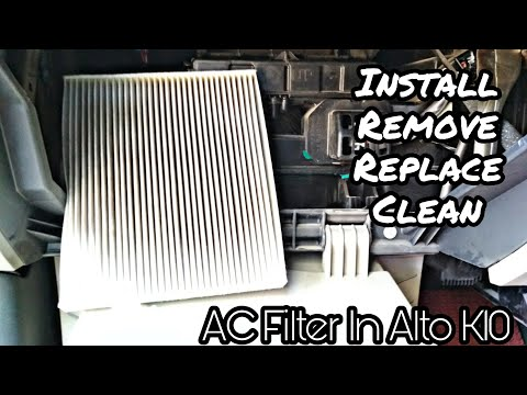 How To Change/Remove/Replace/Clean Ac filter In My Alto K10