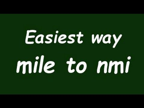 Convert Mile to Nautical Mile (nmi) - Formula, Example, Solution