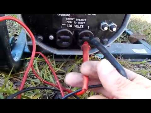 Craftsman Portable Generator, Power 206 Voltage Output Check
