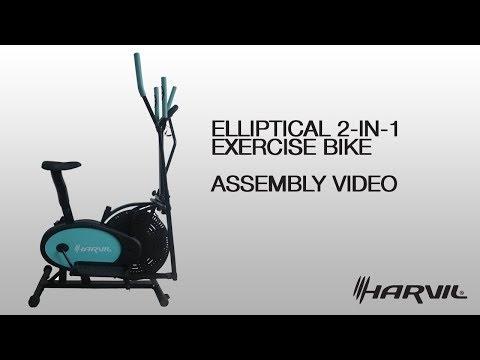 Assembly Video | Harvil Elliptical 2-in-1 Exercise Bike | Exercise Bike | Dazadi.com