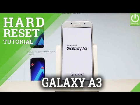 How to Factory Reset SAMSUNG Galaxy A3 (2017) - Delete Data / Restore |HardReset.Info