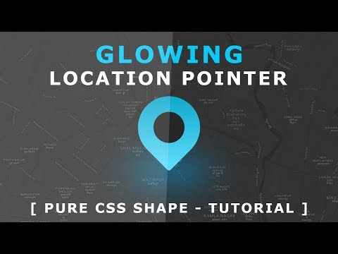 Css Glowing Location Pointer Animation - Pure Css Shape Tutorial - Css Animation Effects
