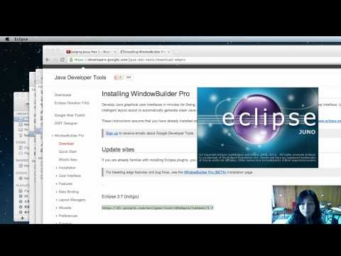 Java with Eclipse Juno Part 4: Create a simple Swing app (GUI)