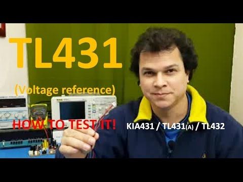 How to TEST TL431 Voltage Reference / TL431A TL432 KIA431 Shunt Regulator circuit