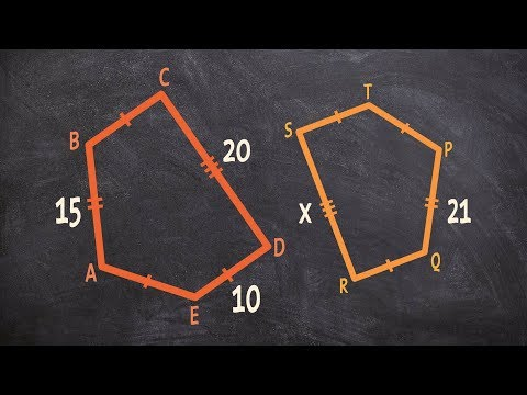 Determine the missing parts of a polygon and find the perimeter