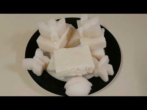 Making Hot Process Coconut Soap from coconut oil