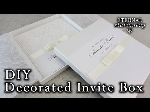 How to decorate your own invitation box with a dior bow | DIY Wedding Invitations