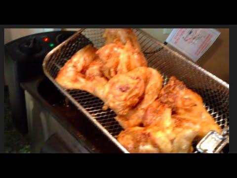 #218  Golden 'DEEP FRIED' Chicken Wings / HAMILTON BEACH Deep Fryer