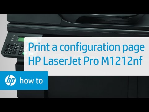 Printing a Configuration Page -- HP LaserJet Pro M1212nf