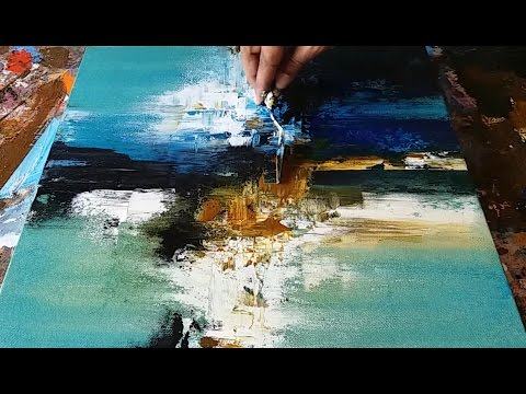 Abstract painting / Demonstration of Abstract painting in Acrylics / Palette knife
