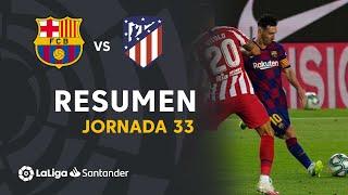 Resumen de FC Barcelona vs Atlético de Madrid (2-2)