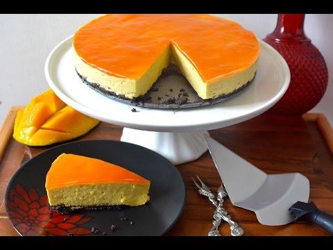 No Bake Mango Cheesecake Recipe   No Eggs No Gelatin