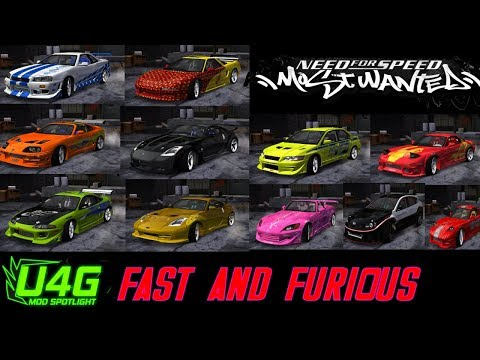 Global Fast and Furious Car Pack Need For Speed Most Wanted 2005 Mod Spotlight