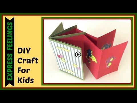 DIY- Craft for kids/How to make- Mini scrapbook photo album /DIY scrapbook tutorial