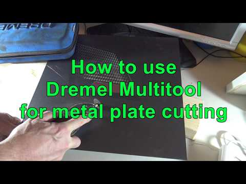 How to use Dremel Multitool for circle metal plate cutting