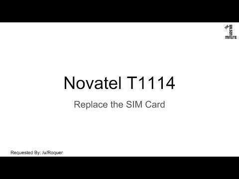 Verizon Novatel T1114: Replace SIM Card (The Wilson Minute)