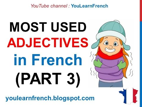 French Lesson 243 - 100 Most common ADJECTIVES in French PART 3 Must know Most used expressions