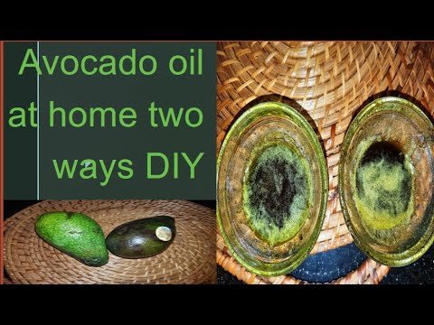 How to do Avocado oil at home two ways DIY easy and quick, for dry hair and skin care.