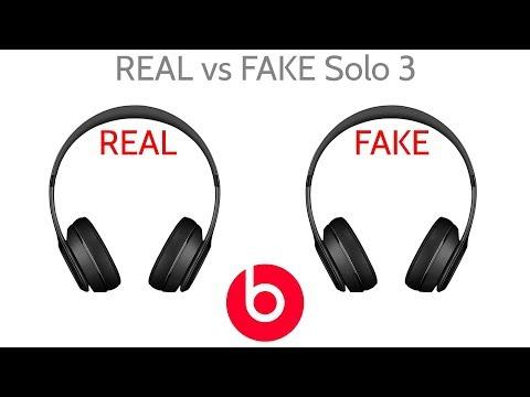 Fake vs Real Beat By Dre Solo 3 Wireless Headphones JoesGE