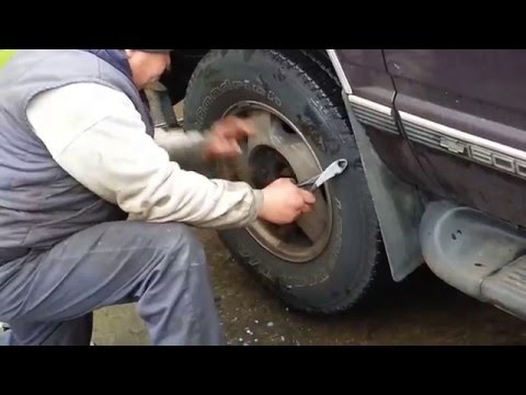 How to remove a stripped lug nut on any vehicle.