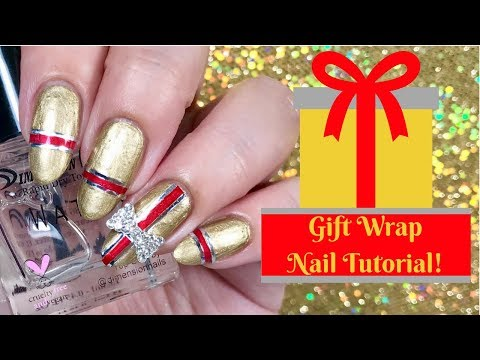 🎁 Christmas Present Nail Tutorial | Day 8 of my 12 days of Christmas! 🎁