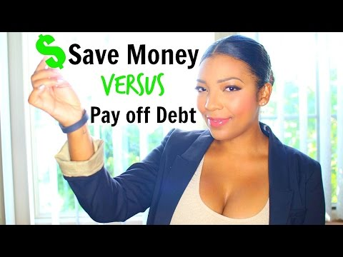 Save Money Versus Paying off Debt: Money Mondays