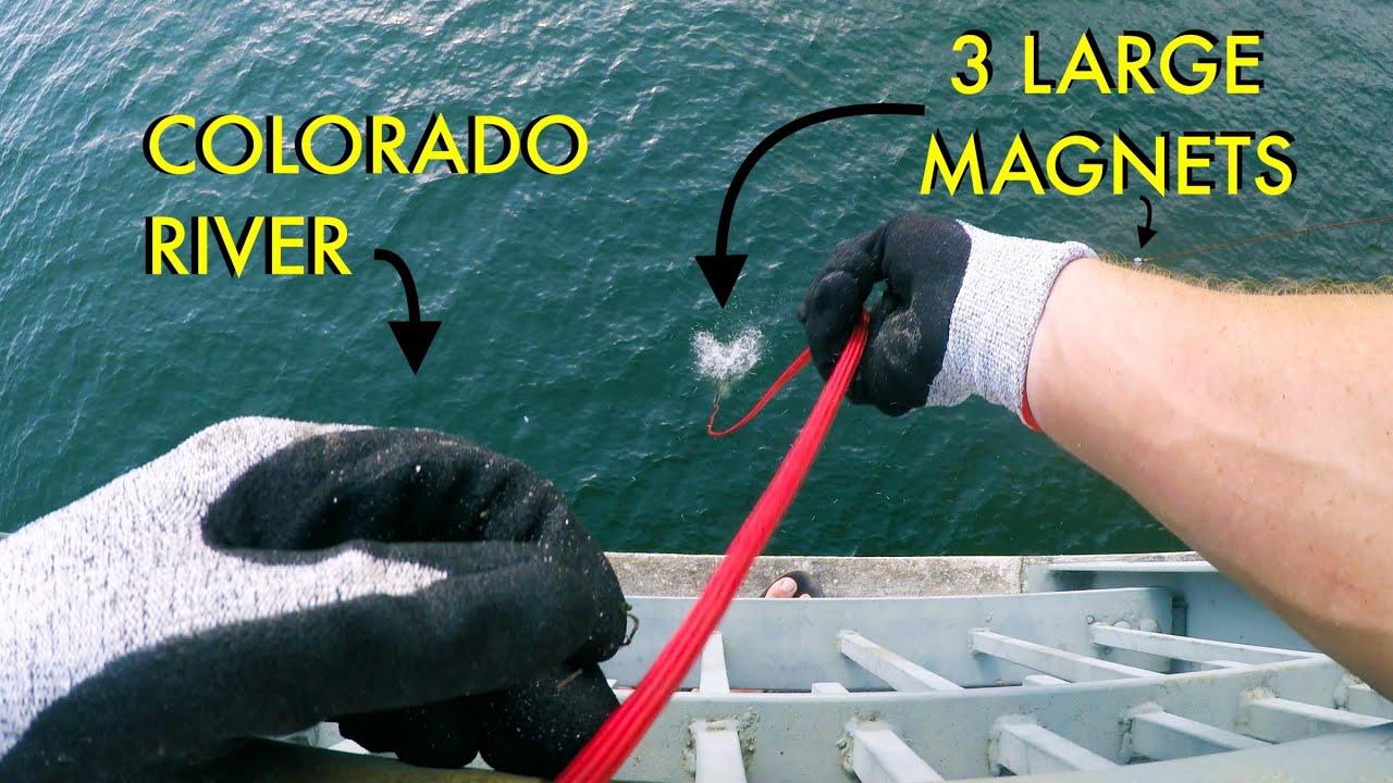 Dragging 3 HUGE Magnets On Colorado River Bottom (Magnet Fishing)