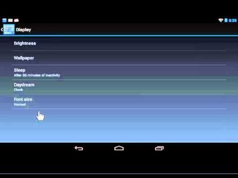 Google Nexus Change the Font Size