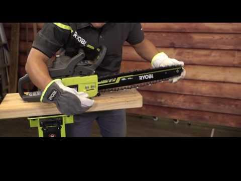 RYOBI NZ Chainsaw Maintenance - how to adjust the chain (tooled)