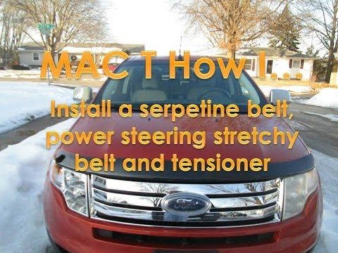 2008 ford edge belt replacement (Applies to 2007-2014 models)
