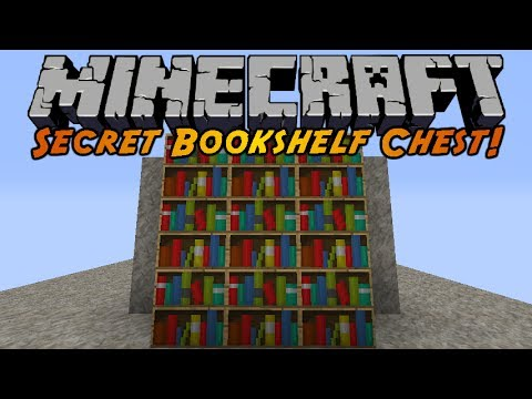 Minecraft: Secret Bookshelf Chest!