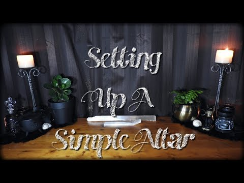 Setting Up A Simple Altar!