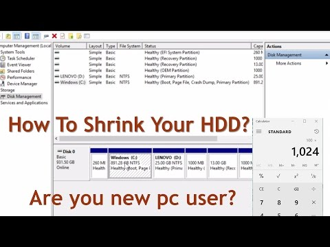 How To Shrink Your HDD?