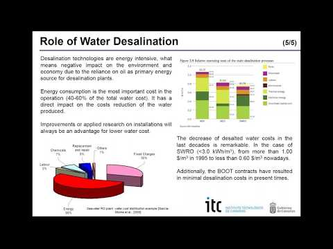 Webinar: Solar desalination technologies; current situation and trends