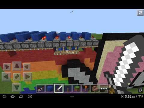 Minecraft Pe redstone Nyan Cat